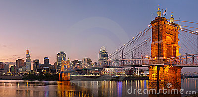 Cincinnati skyline panorama.