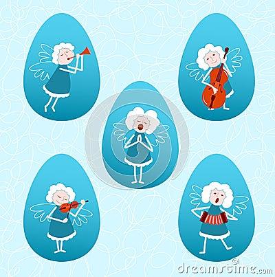 Cinco anjos musicais