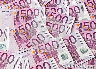 Cinco cem euro- notas