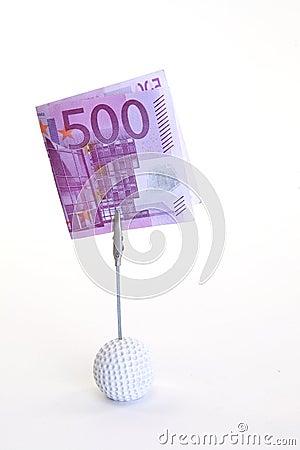 Cinco cem notas de banco do euro
