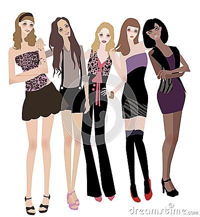 Cinco muchachas