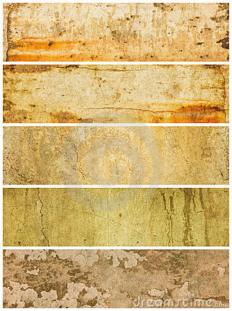 Cinco painéis Textured de Grunge