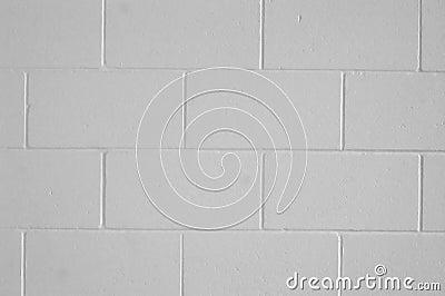 A cinderblock wall