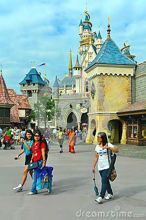 Cinderella castle at disneyland hong kong Editorial Photography