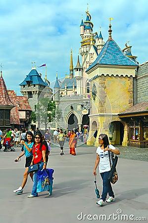 Cinderella castle at disneyland hong kong Editorial Photography
