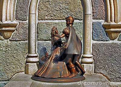 Cinderella and prince charming Editorial Stock Image