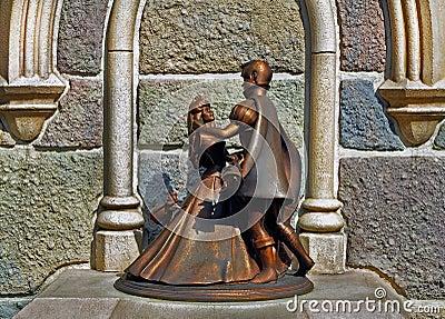 Cinderella and prince charming Editorial Stock Image