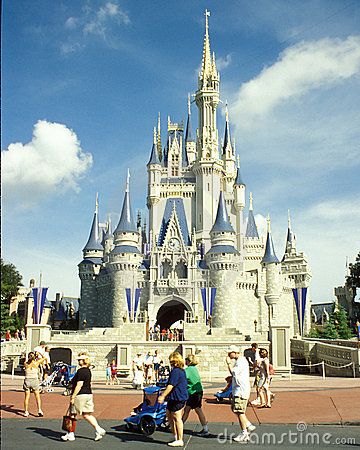 Cinderella s Castle in Disney Magic Kingdom Editorial Stock Photo