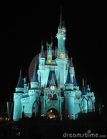 Cinderella s castle at night Editorial Image