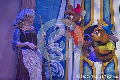 Cinderella talking to mice Editorial Image