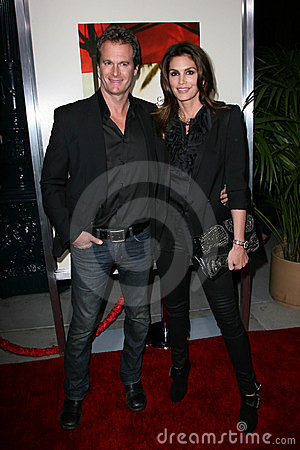 Cindy Crawford, Rande Gerber Editorial Stock Image