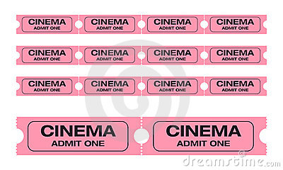 Cinema admit one tickets