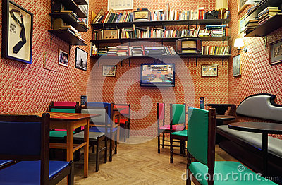 Cinema Cafe in House of Journalists Editorial Stock Image