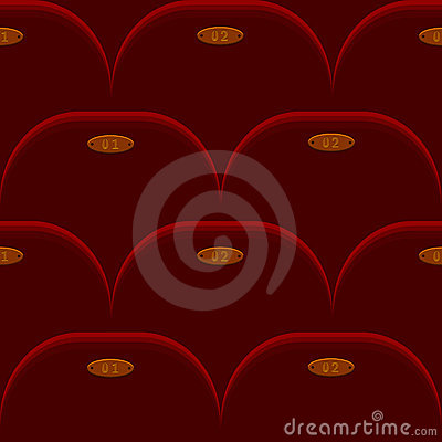 Cinema chair seamless background
