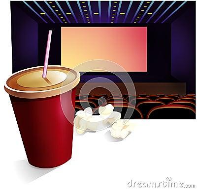Free Cinema, Drink, Pop-corn Stock Photo - 699100