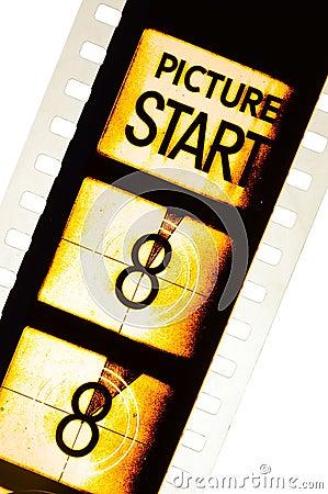 Free Cinema Film Countdown Royalty Free Stock Photography - 76344847