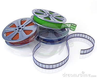 Cinema film reels