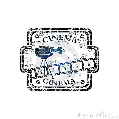 Cinema grunge rubber stamp