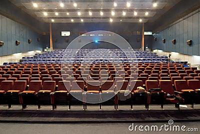 Cinema hall withrow of seats