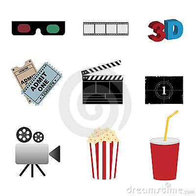 Cinema Icons Stock Photography - Image: 15112072