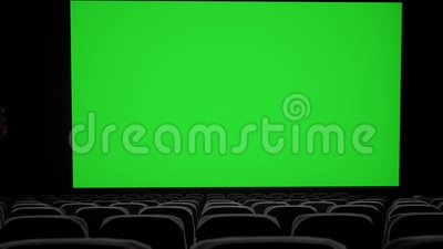 Cinema Interior Of Movie Theatre With Blank Movie Theater Screen With Green Screen And Empty Seats Movie Entertainment Stock Video Video Of Cinema Dark 142553083