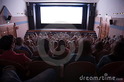 Cinema interior with people