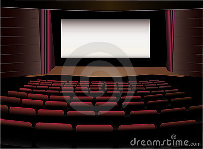 Cinema interior vector