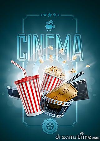 Free Cinema Poster Design Template Stock Photo - 44098150