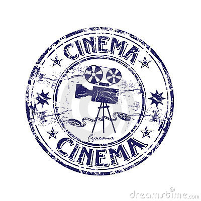 Cinema rubber stamp