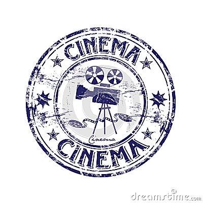 Free Cinema Rubber Stamp Stock Image - 9023801