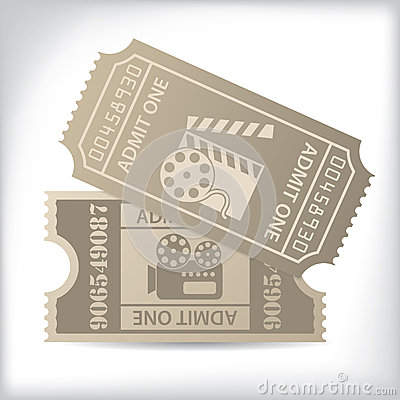 Cinema tickets with icons and text