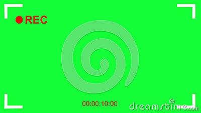 Cinematic Camcorder, Rekorder. Sucher mit grünem Bildschirm, Alphakanal lizenzfreie abbildung