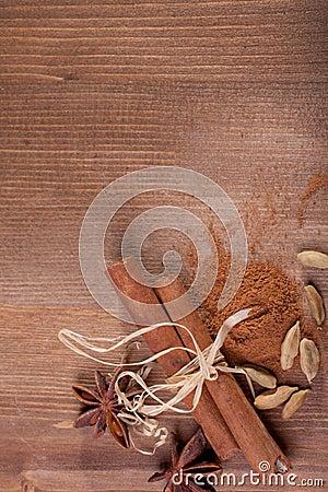 Cinnamon, anise, cardamom