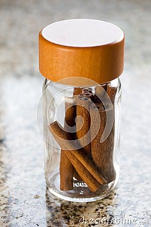 Cinnamon on jar