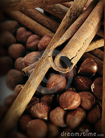 Free Cinnamon Mixed With Hazel Nuts Stock Photo - 2676390