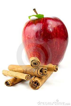 Cinnamon stick with apple