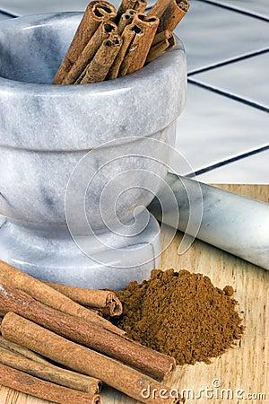 Cinnamon Sticks, Mortar