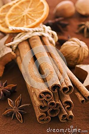 Free Cinnamon Sticks With Cocoa Royalty Free Stock Photo - 12460495