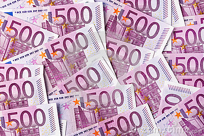 Cinq cents euro notes