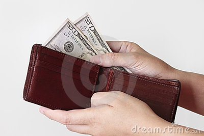 Cinquante dollars dans la bourse