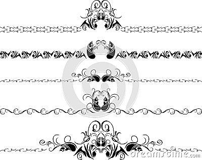 Cinque bordi decorativi immagine stock libera da diritti for Bordi decorativi