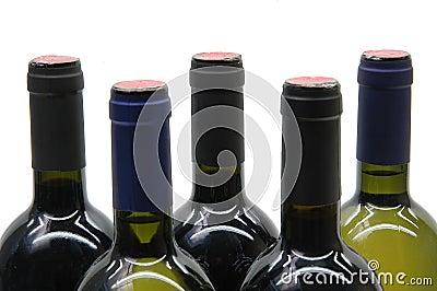 Cinque bottiglie di vino