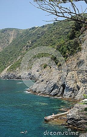 Cinque Terre coastal path Italy