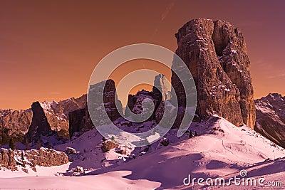 Cinque Torri Italy Dolomites