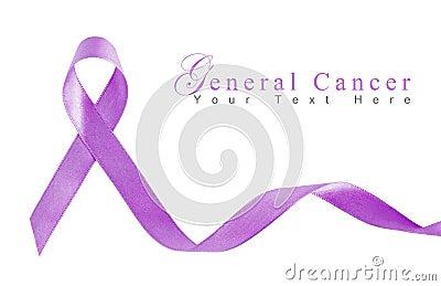 Cinta de la lavanda para el cáncer general