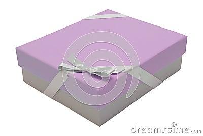 Cinta rosada del rectángulo de regalo