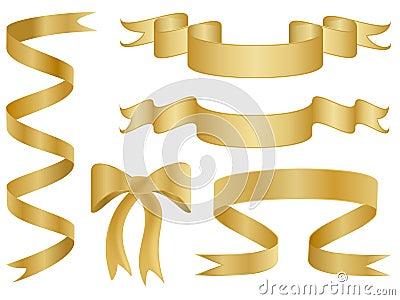 Cintas del vector del oro