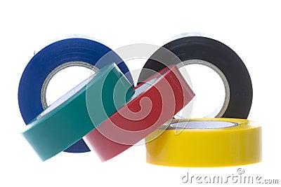 Cintas eléctricas del PVC aisladas