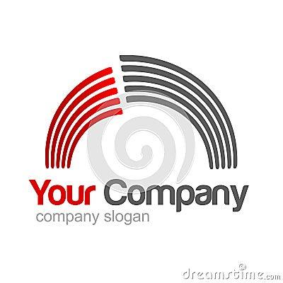 Cinza vermelho do logotipo