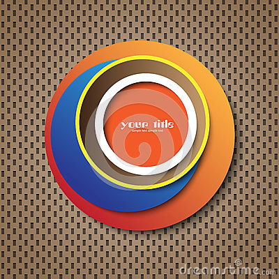 Circle abstract cover / icon